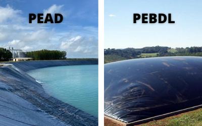 Reservatório de geomembrana: Saiba a diferença entre PEAD e PEBDL
